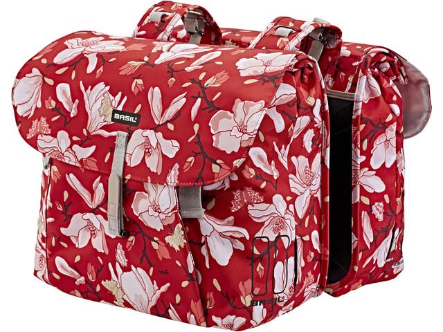 Basil Magnolia Double Pannier Bag 35l poppy red